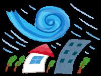 台風に備えて 建物の確認